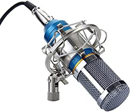 Brain Freezer J Bm-800 Gel Professional Condenser Microphone Studio Recording (Works With Phantom Power Supply Or Sound Card Only) Blue