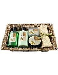 Gloss Panier de Bain, Bamboo, Geschenkset, 5-teilig
