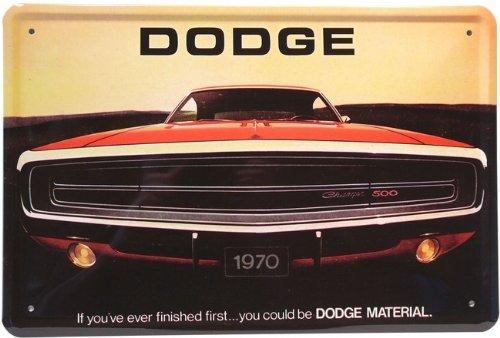 Blechschild Dodge Charger 500 USA Car Auto 20 x 30 cm Reklame Retro Blech 391 -