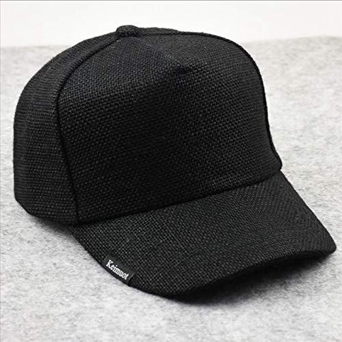 YSYNCAP Cap Männliche Sommer Kühle Leinen Plain Sonnenhüte Big Head Man Large Size Baseball Caps 58-65Cm