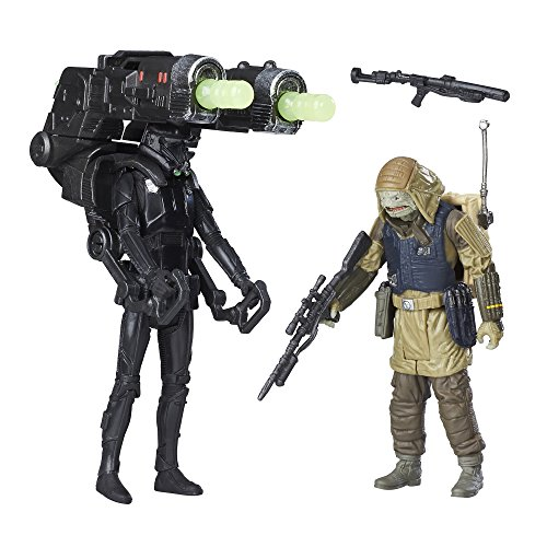 Star Wars Rogue One Figuren Set Rebel Commando Pao und Imerial Death Trooper bewegliche Aktionsfiguren ca 9 cm