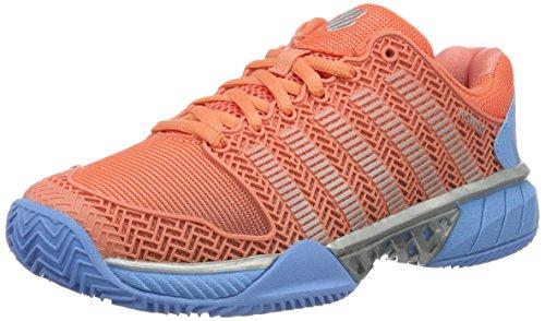 K-Swiss Performance 93378664M, Zapatillas De Tenis Mujer, Naranja (Fusion Coral/Bonnie Blue 664), 38 EU