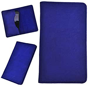 DCR Pu Leather case cover for Blu Dash 5.0 (blue)