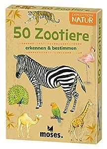 Moses. 9791Expedition Natural de 50Zoo Animales | determinación de Tarjetas en Juego, con Emocionantes Quiz Preguntas