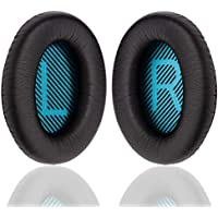YOCOWOCO PU-Leder Ohrpolster Ersatz für Bose Quietcomfort 2/15/25/35 Ae2 Ae2i Ae2w SoundTrue Around-Ear SoundLink Around-Ear, Schwarz