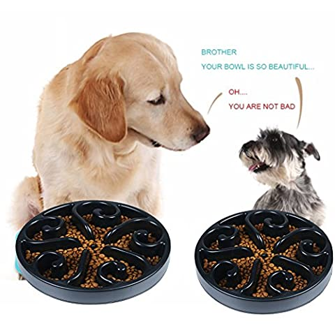Slow Feeder Bowl,Bloat Stop Dog cat pets Puzzle Feeder Bowls Maze with Anti-Skid Design-Slow Eating Dog Bowl-Interactive