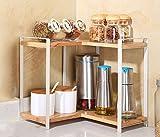LI Jing Shop - Küche Gestell Massivholz Doppelte Schicht Ecke Gewürz Spatel Kreatives Gestell Küchenartikel Lieferungen Incorporated Storage Rack