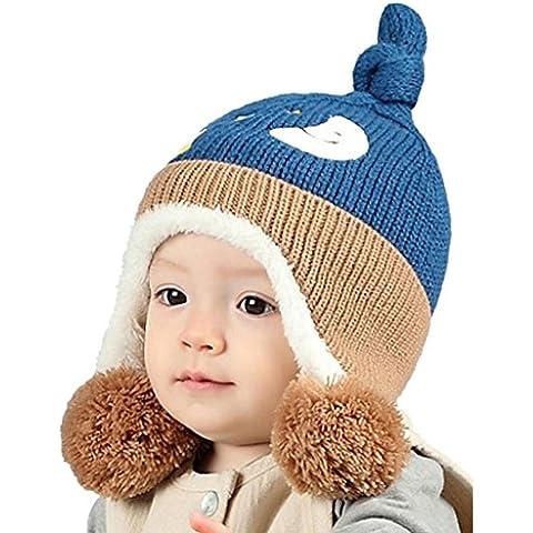 ✽Internet✽ La luna linda de las estrellas del bebé imprimió la bola de la piel hizo punto el sombrero caliente del