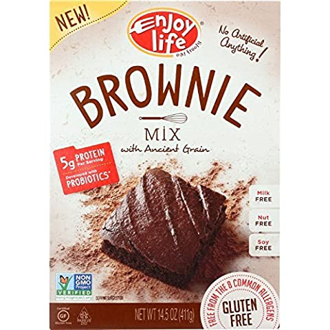 Enjoy Life Baking Mix - Brownie Mix - Gluten Free - 14.5 oz - case of 6 - Gluten Free - Dairy Free - Wheat Free-Vegan by Enjoy Life