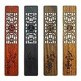 2 Set Di Legno Massello Segnalibro Regalo Set Meilan Zhuju Creativo In Legno In Stile Cinese Artigianato Regalo Di Affari Segnalibro