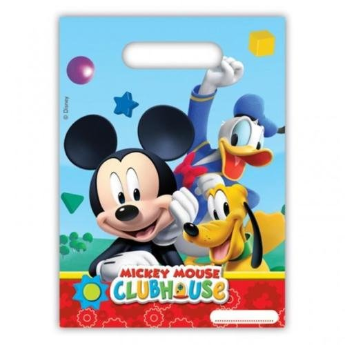 Mickey Mouse Clubhouse Party, verspielt Mickey Party-Plastiktaschen X 6 (Party-tüten Minnie Mouse)