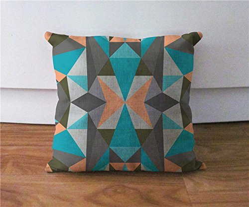 WENEOO LA Geometric Triangles Pillow Cover, Accent Cushion Case, Decorative Pillow Case,18