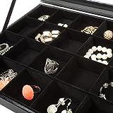 TecTake-Caja-para-artculos-de-joyera-cajita-joyero-anillos-joyas-almacenamiento-negro