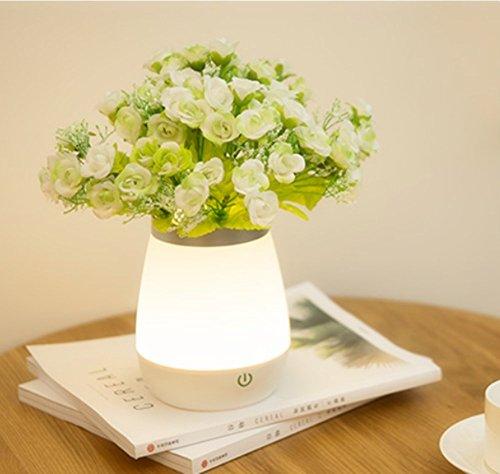2in 1lámpara de noche LED, Moderno Lámpara jarrón decorativa recargable USB, lámpara de salón para dormitorio salón cocina Bar Comedor