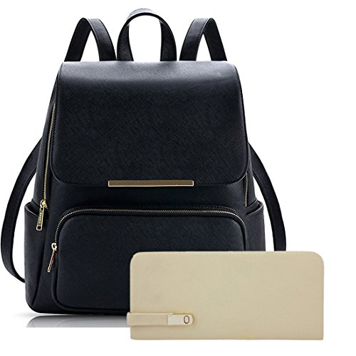 Alice Women's Backpack Handbag With Clutch Combo (Prebkp9 Clutch ) – Black