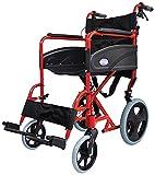 Aidapt VA170RED Kompakter Transport-Rollstuhl aus Aluminium, hammerite