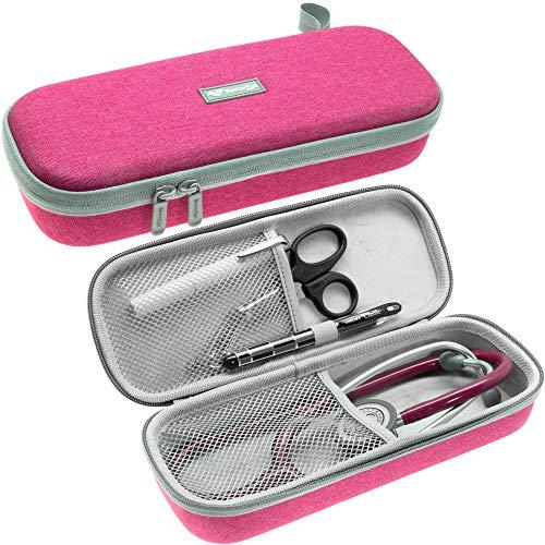 Stethoskop-Tragetasche, passend für 3M Littmann Stethoskop und Krankenschwester-Zubehör, Pink