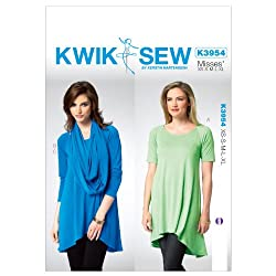 Kwik Sew Patterns K3954 Misses Tunic Sewing Template, All Sizes