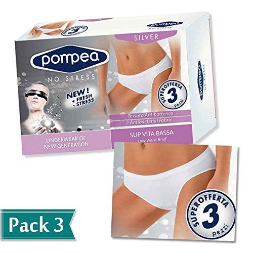 POMPEA - Slip -  donna Bianco