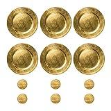 Argon Tableware Runde Unterteller und Untersetzer in Gold