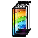 [3 Pièces] Verre Trempé pour Samsung Galaxy A8 2018,GantPower Protection écran film protection pour Samsung Galaxy A8 2018,Ultra Claire 9H Film Protecteur-Noir