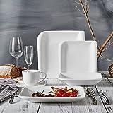 Vancasso Yolanda 30-teilig Porzellan Geschirr Set in Weiß, Tafelservice Kombiservice für 6 Personen