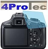 2 Stück HARTBESCHICHTETE KRISTALLKLARE Displayschutzfolie für Canon EOS 1300D Bildschirmschutzfolie