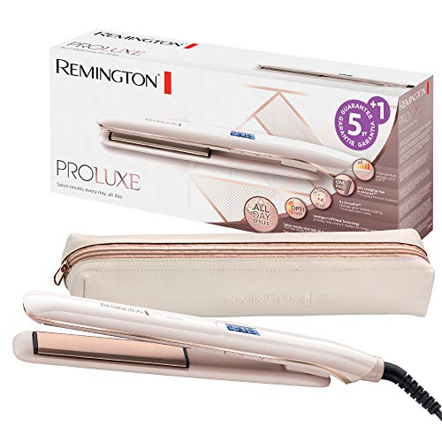 Remington Haarglätter PROluxe S9100, OPTIheat-Technologie und Ultimate-Glide-Keramikbeschichtung, rose gold (Frau M Braun)