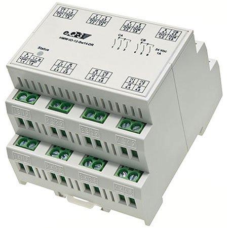 HomeMatic Wired I/O-Board RS485, 12 Eingänge, 14 Ausgänge, Komplettbausatz HMW-IO-12-Sw14-DR
