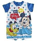 Mickey Mouse und Pluto Kollektion 2018 Strampelanzug 62 68 74 80 86 92 Strampler Einteiler Kurz Maus Disney Blau (Blau, 74)