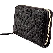 29259b9060402 Gucci Microguccissima Leder Portemonnaie rund Reißverschluss Portemonnaie  Black 449391 BMJ 1 G 1000