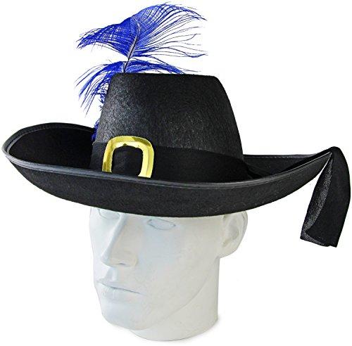 Seiler24 Musketier Edelmann Hut mit Feder Karneval