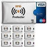 TRAVANDO ® RFID-Schutzhülle Set (10 Stück) für Bankkarte, EC-Karte, Personalausweis, Kreditkarten - 100%Datenschutz durch Kreditkartenhülle / Kartenschutzhülle + GRATIS E-Book - in Geschenkverpackung