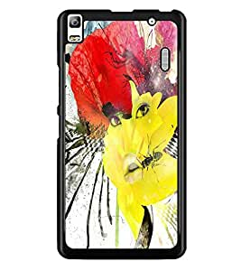 PrintDhaba Abstract Art D-1103 Back Case Cover for LENOVO K3 NOTE (Multi-Coloured)