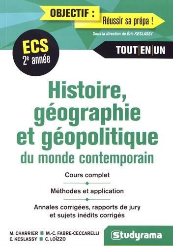 Histoire Gographie et Gopolitique du Monde Contemporain 2e Anne ECS