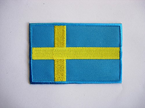 Kostüm Schweden (Patches – Sweden Flag – Flagge Schweden – Flag Patches – Countries – Vest – Iron Man Patch – Wandleuchte Embroidery Wappen bestickt kostüm cadeau- Give)