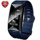 Willful Fitness Tracker, Fitness Armband Herzfrequenz IP67 Wasserdicht Uhr Schrittzähler Aktivitätstracker für iOS und Android Handy (Mit Schlaf-Monitor, Call Nachricht Reminder, Fahrrad Modus)
