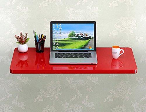 SUBBYE Wand-Laptop-Schreibtisch Faltbarer Computer-Schreibtisch Lernen Schreiben Schreibtisch Farbe Größe Optional ( Farbe : Rot , größe : 90*40cm )