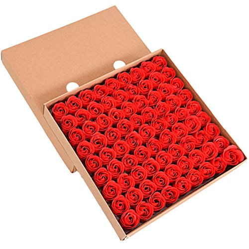 Tininna Duftseifen in Form von Rosen, Duftende Bade-Seifen, Rosa, in Box Gr. Freie Größe, rot -