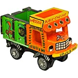 Handmade Colorful Push And Pull Toys Wooden Truck Vichile For Kids And Home Decoration Orange Height 4 Inch By Fine Craft India