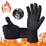 iToncs BBQ Gloves Oven Gloves, Oven Mitts Extreme Heat Resistant Grilling Gloves High