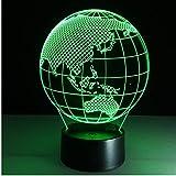 3d lampe 7 farbe ozeanien karte led nacht lampen für kinder touch led usb tabelle baby schlaf nachtlicht led brief