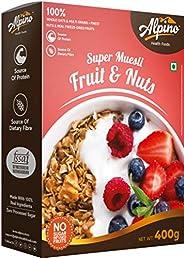 Alpino Super Muesli Fruit & Nuts (Whole Grain Breakfast Cereal) Pouch, 4