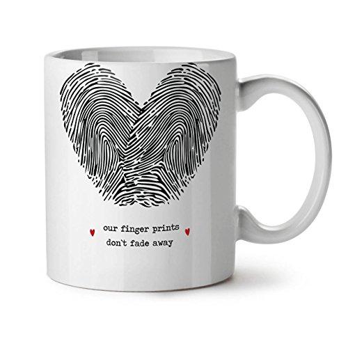 Paar Finger Valentine WeißTee KaffeKeramik Becher 11 | Wellcoda (Tragen Jude Halloween Kostüm)