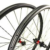 Yuanan 29er Carbon MTB Wheel XC Cross Country Laufradsatz 36 mm Breite asymmetrisch Felgenschlauchlos bereit mit DT 240 Nabe