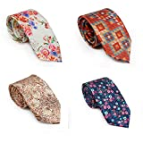 #9: Men's Tie Set - 4 Luxury Neckties with matching pocket squares And 1 Free Classy Lapel Pin Combo(Digi_Combo_1)(Digi_Combo_30)