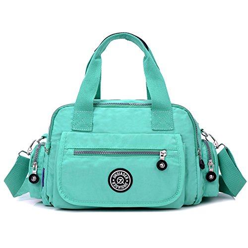 Outreo Handtasche Damen Umhängetasche Leichter Kuriertasche Mode Lässige Schultertasche Wasserdicht Taschen Designer Messenger Bag Reisetasche Gr¨¹n
