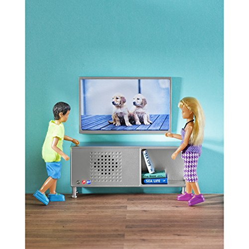 Lundby 60.9040.00 - Musica e TV Set Bluetooth mini bambola capace con accessori