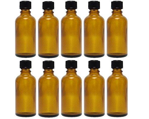 hocz 10 x 50 ml Tropfflasche Mini Glasflaschen mit Tropfeinsatz   Farbe Braunglas ✔   Füllmenge: 50 ml ✔   Apothekerflasche   Dosierung von Flüssigkeiten E-Liquids
