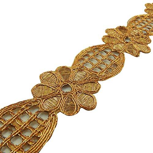 Zierleisten Sari Border Floral Cut-Work Kupferband 4 cm breit von der Werft -